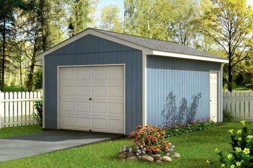 Simple one car garage design for Single garage prices