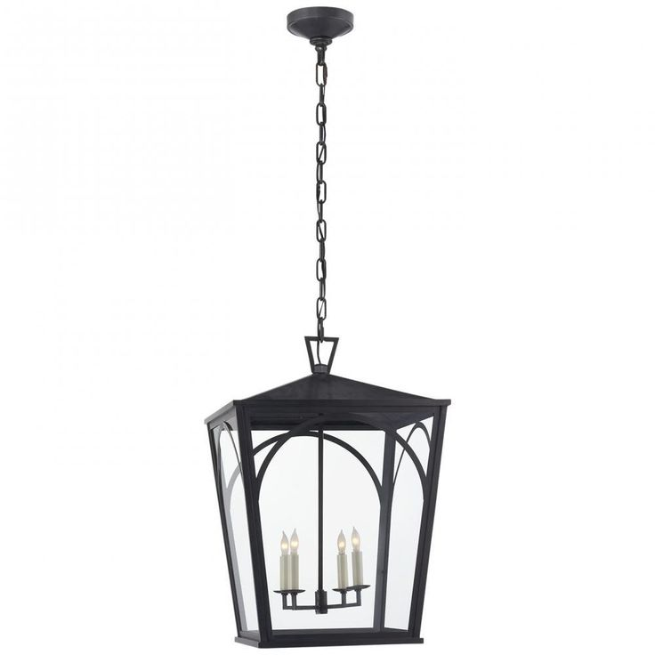 Darlana Arc Large Outdoor Lantern in Bronze with