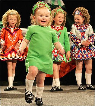Irish dancing cuties....sometimes beauty comes from one's energy in dance, more so than the perfection of execution.