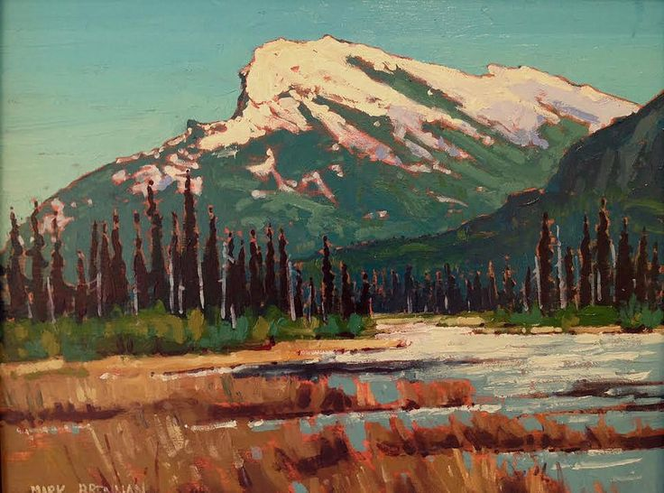 """Spring Wetland Near Banff, Alberta"" Oil on Board 8"" x 10"" Mark Brennan at Argyle Fine Art www.argylefineart.blogspot.com"