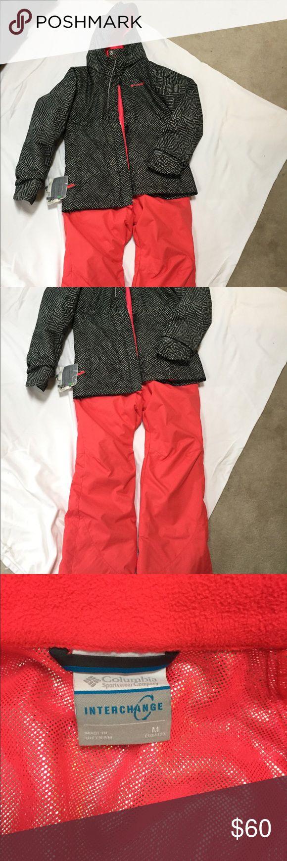 Columbia ski jacket and Burton ski pants Girls Columbia ski jacket. Zippered lining with metallic heat liner. Burton lined girls ski pants.  Excellent condition , used one season. columbia & Burton Matching Sets