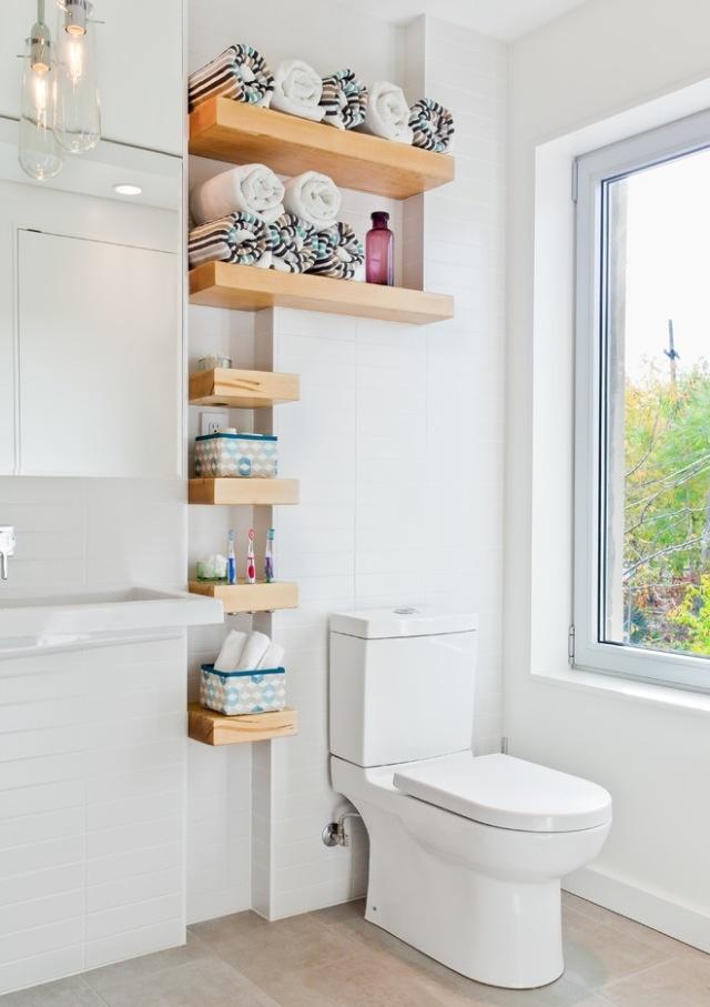 Small Bathroom Shelves Small Bathroom Pinterest