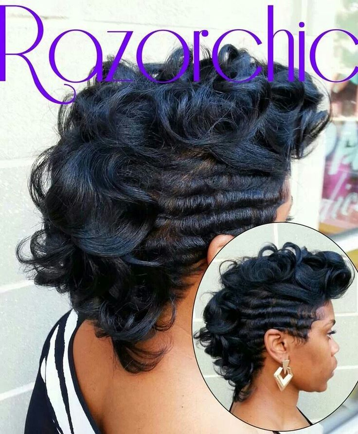finger waves with mohawk hair