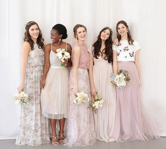 Soft and floaty bridesmaids dresses.
