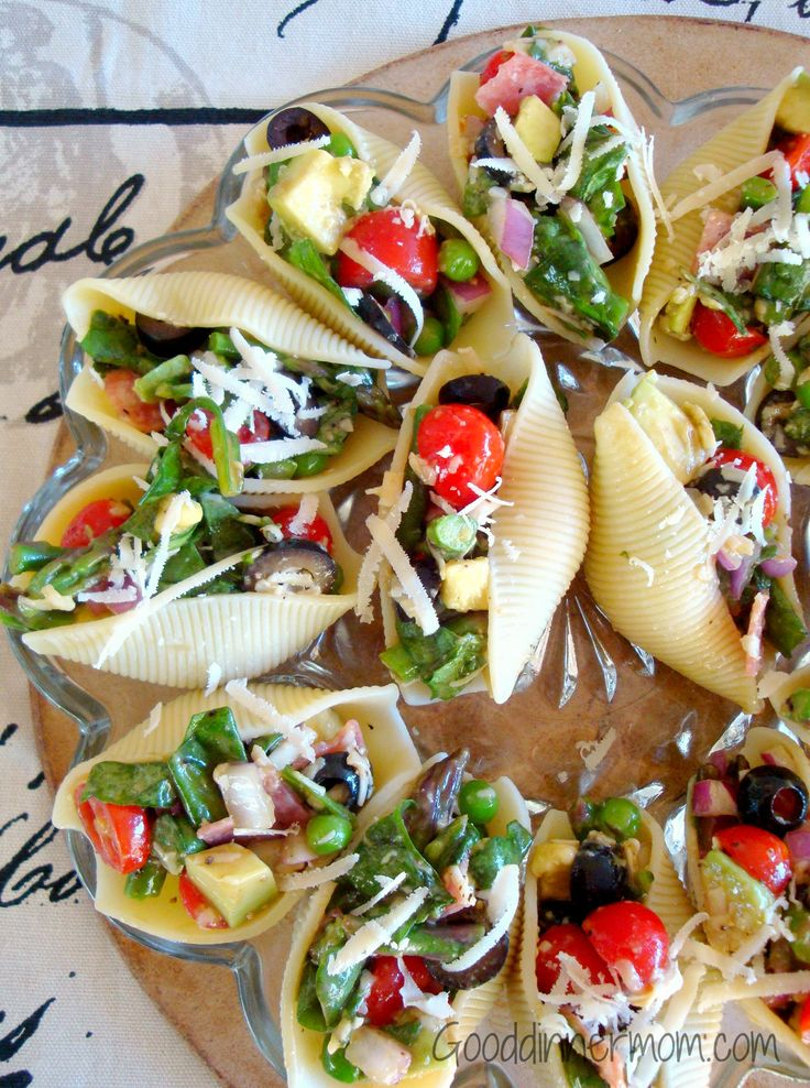 Salad Stuffed Shells - for individual servings