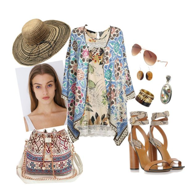 flower-animal look by asya-gorelkina on Polyvore featuring polyvore fashion style Gucci Wedgwood Pearlz Ocean Michael Stars maurices