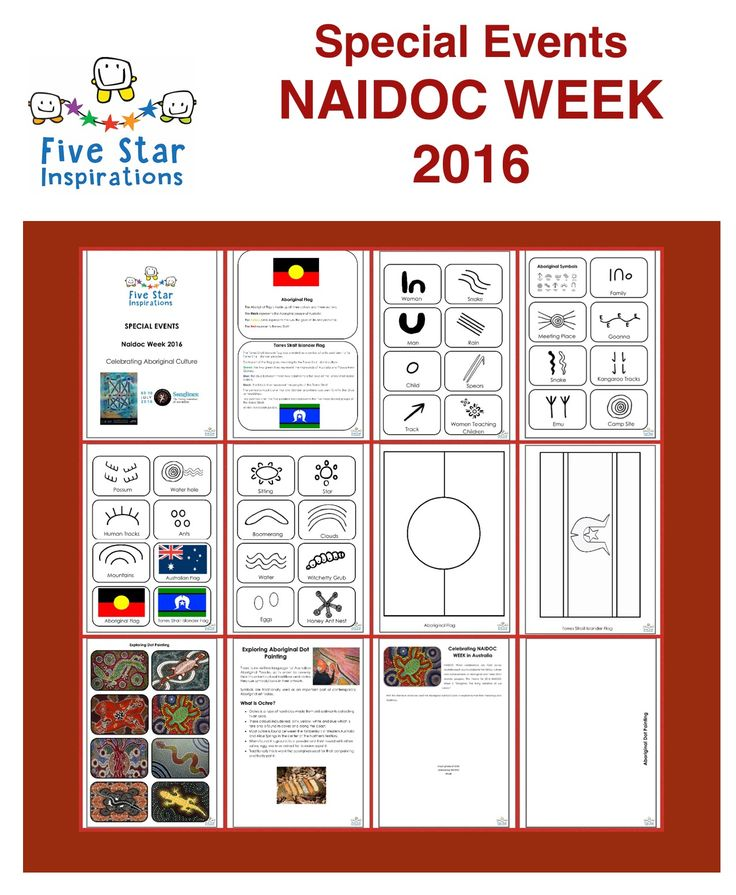 Activities and crafts for NAIDOC Week.