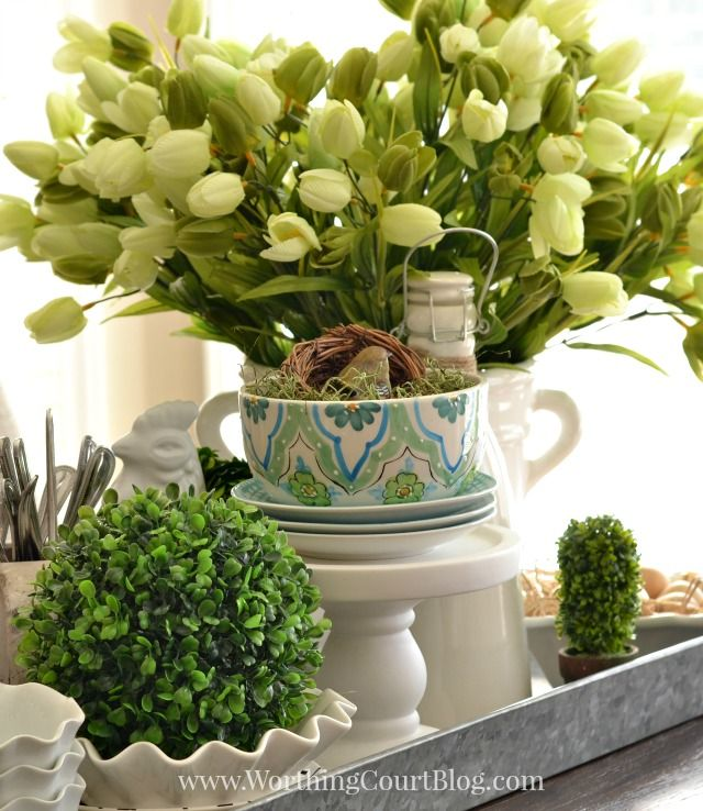 Centerpiece Kitchen Table 20 best spring kitchen table centerpieces images on pinterest spring kitchen centerpiece in a galvanized steel tray workwithnaturefo