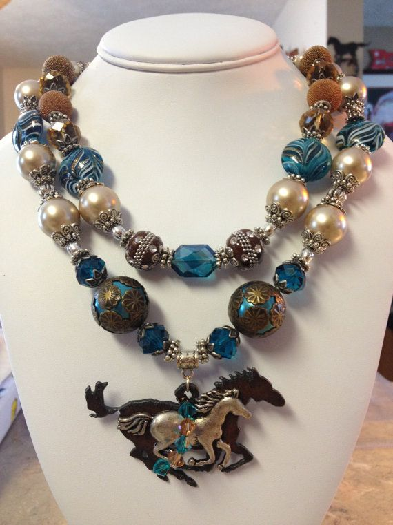 Chunky Cowgirl Necklace / Cowgirl Bling by CowgirlInspiration, $52.50
