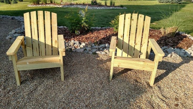2x4 DIY Adirondack Chair Plans Simple Plans for a Etsy