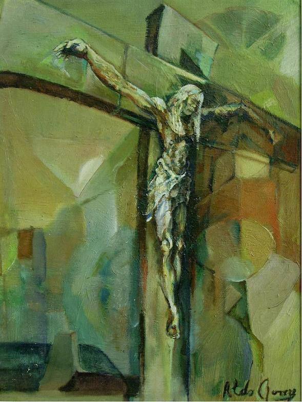 Cristo di citta 1994 (pittura ad olio). autor: Aldo Rovere.