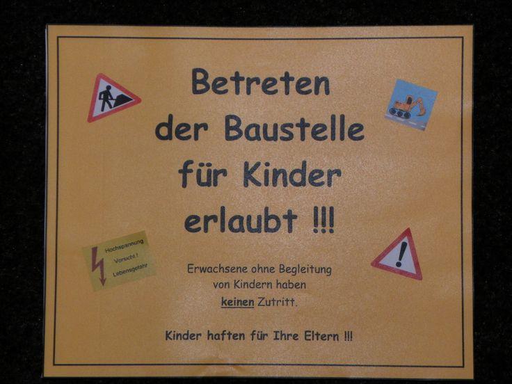 2012   Thema Baustelle   Einladungskarte Vorderseite