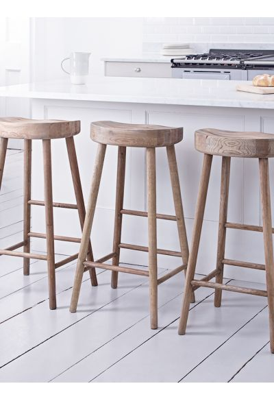 Weathered Oak Stool - Stools & Chairs - Kitchen - Indoor Living