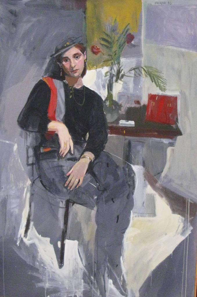 """Εδουάρδος Σακαγιαν (1957) """"Καθιστη Κυρία"""", 1983"""