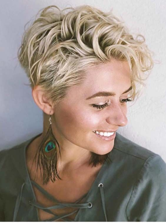 46 Best Short Curly Blonde Haircuts For 2018 Curly Wavy