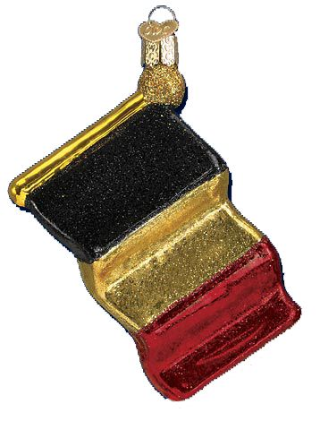 Belgium Flag Glass Ornament