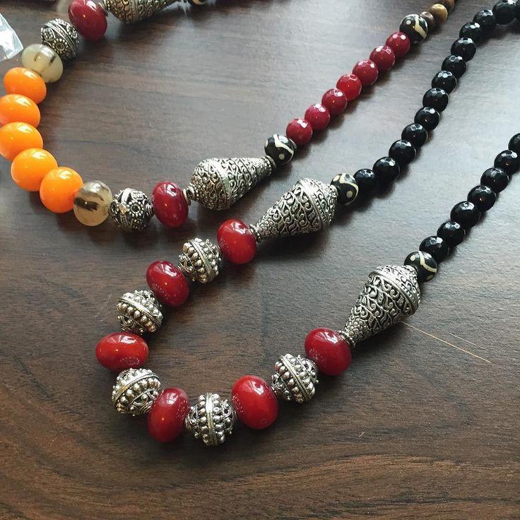 Resin necklaces #rabari #fashionjewelry #jewelryjournal #jewelry #beach #kuchi #afgan #repoussebeads #nepaljewelry #amberresin #ilovered #silver #indiantribal
