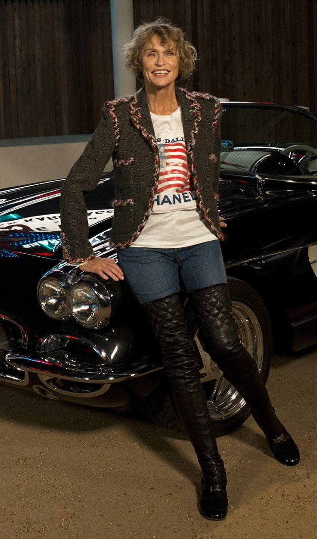 Lauren Hutton at Chanel's Paris-Dallas fashion show