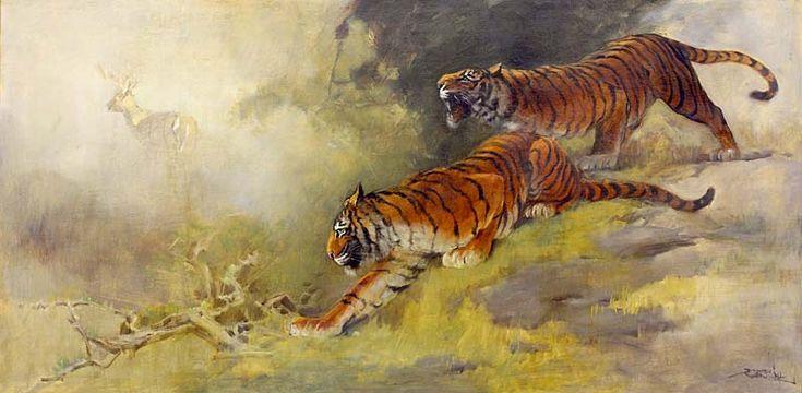Basoeki Abdullah - Hunting Tiger