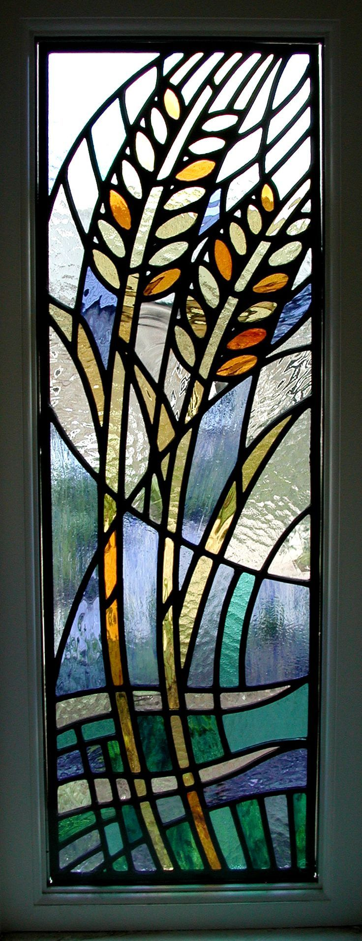 Barley window stained glass art faux stained glass