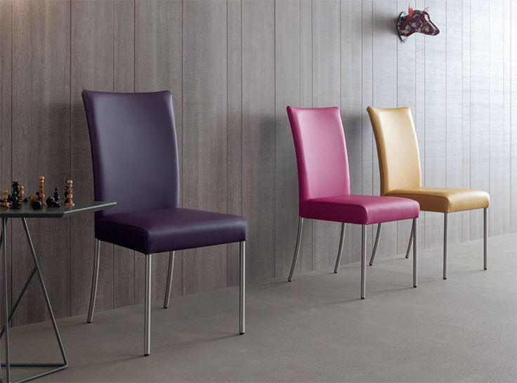 Contemporary Compar July Dining Chair Leather Or Faux Various Colours