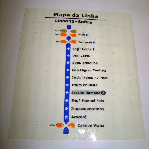 Braille mapa tátil