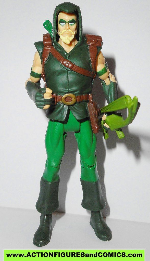 Mattel toys action figures for sale to buy DC UNIVERSE Infinite Heroes Crisis 2008/2009 GREEN ARROW 100% COMPLETE Condition: Excellent. Figure size: approx. 3.75 inch ---------------------------------