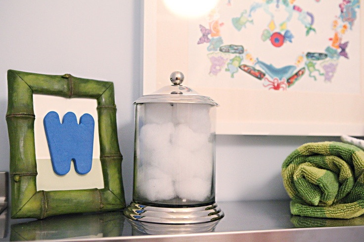 i like using the bath foam letters in a picture frame for kid-friendly art...I have lots of these laying around that I could frame for the kids' bathroom!