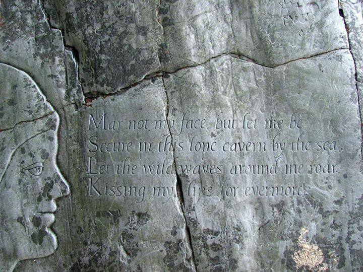 A love poem in a cave on Crantock beach <3