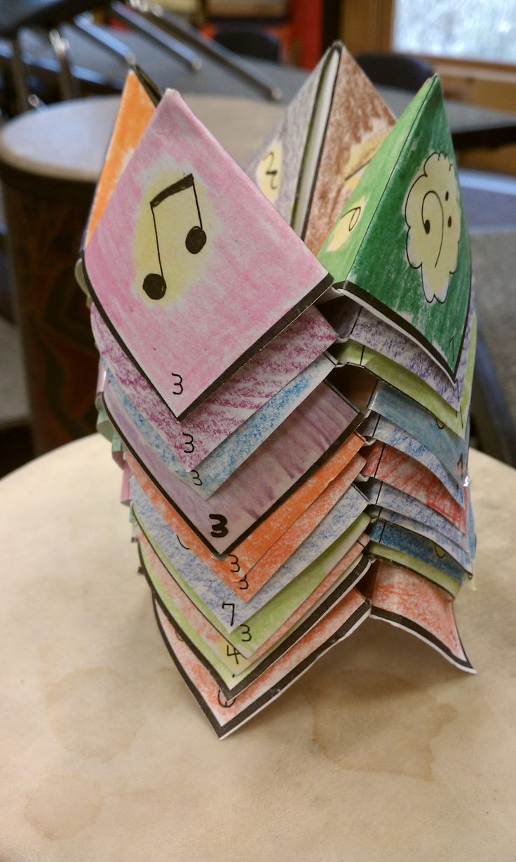 Music Fortune Tellers - great idea for review, lots of other wonderful ideas on this music blog!!