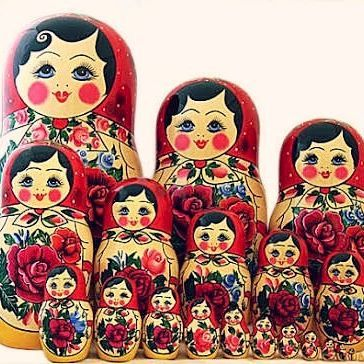 : my Matryoshka doll, more commonly known as babushka dolls One of my favourite travel souvenirs #thegirlswhowander #matryoshkadoll #babushkadoll #arbatstreet #Moscow #Russia