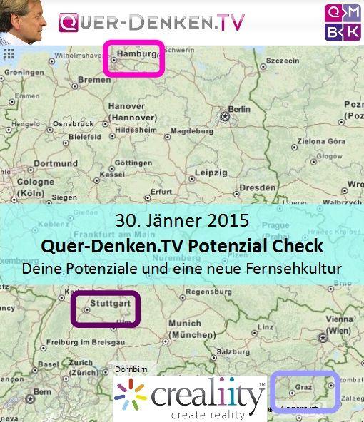 in diesen 3 Städten sind wir am 30. Jänner 2015 https://crealiity.com/querdenken.tv.php
