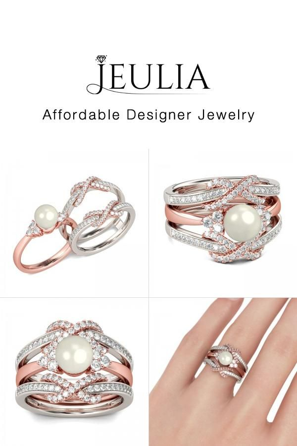 Check This Out From Jeulia Jeulia Two Tone Faux Pearl Sterling