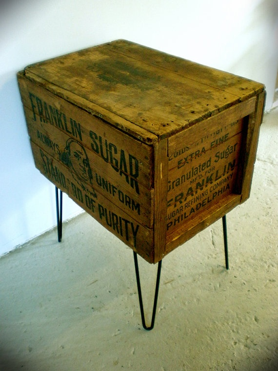 48 best old antique vintage crates boxes images on for Table made from crates
