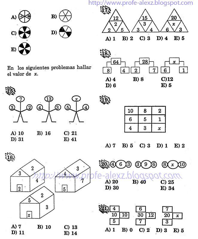 Sucesiones Analogias Y Distribuciones Problemas Resueltos Razonamiento Matematico Blog Del Profe Alex Matematicas Sucesiones Matematicas De Quinto Grado