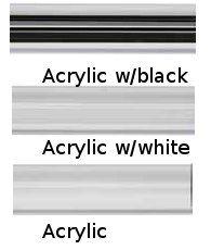 "Acrylic 1 3/16"" by 59"" contemporary curtain rod"