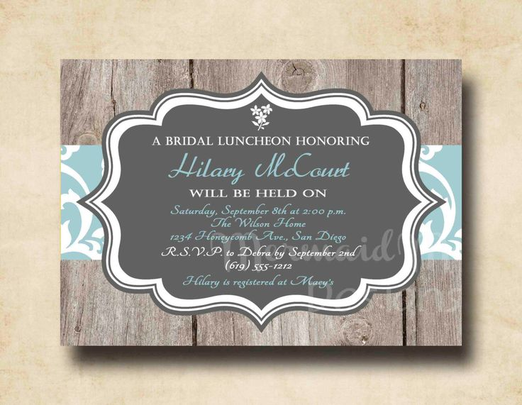 25 best rustic wedding shower and bridal shower invitations images, Wedding invitations