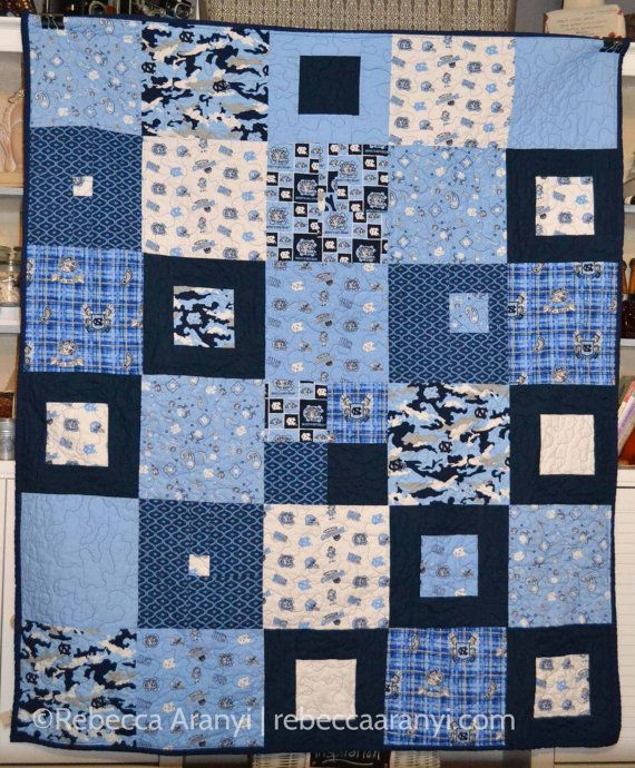 UNC-CH Lap Quilt by OneBluntNeedle on Etsy $150.00