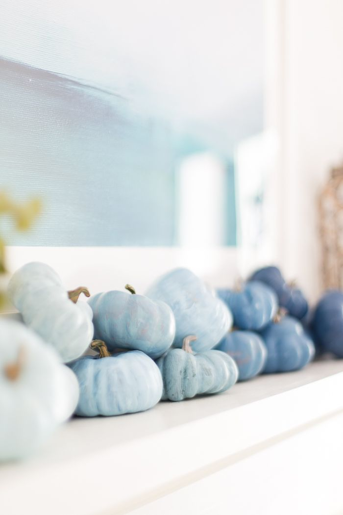 Coastal Fall Mantel Decor Decorating a