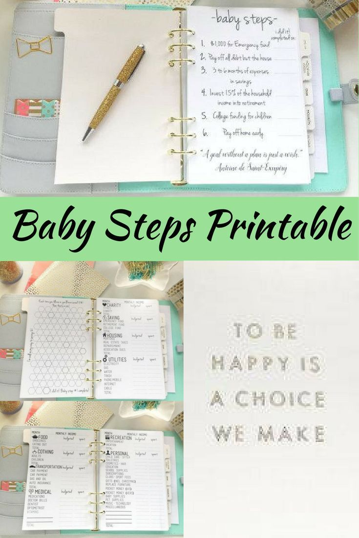 Printable for Dave Ramseys baby steps program for …