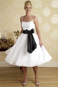 White Tea Length Dress, Black And White Cocktail Dresses, Party Dress $96.00