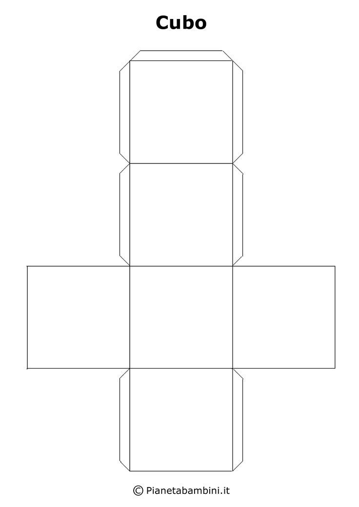 Tante figure geometriche solide in PDF per bambini pronte da stampare gratis, ritagliare e costruire con carta o cartoncino e da incollare
