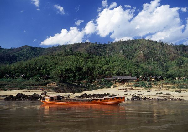 Boat and lodge