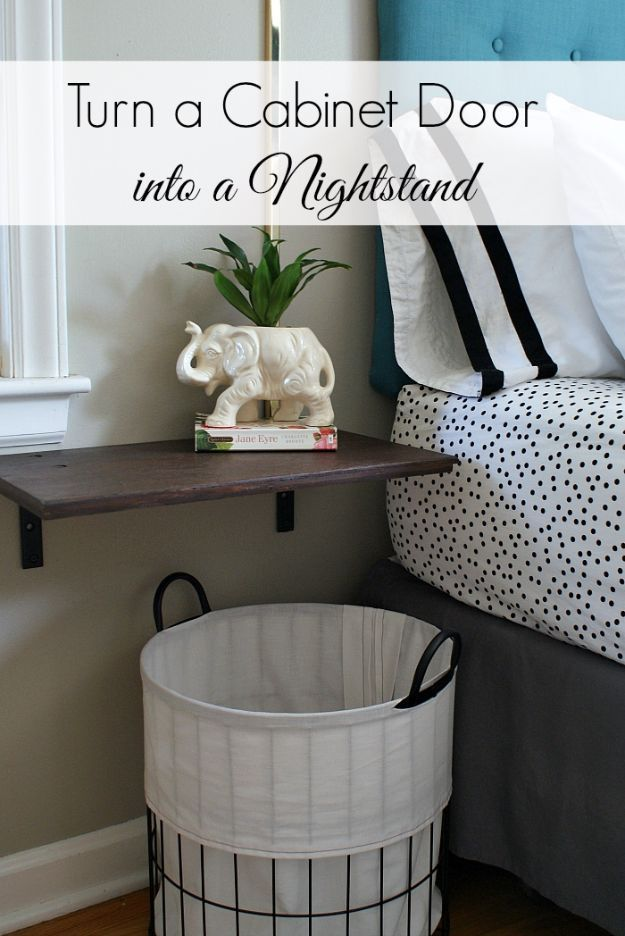 DIY Nightstands for the Bedroom – Turn A Cabinet Door Into A Nightstand – Easy D…