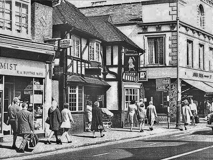 Another view of The Times public house near Fiveways with Basinghall Lane next to it.
