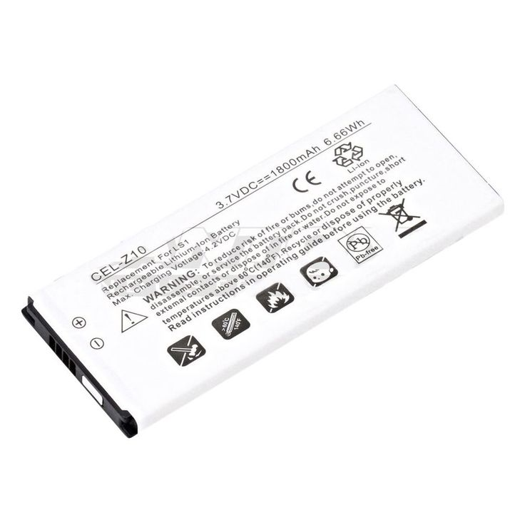 Dantona - Lithium-Ion Battery for BlackBerry Z10 Cell Phones - White, CEL-Z10