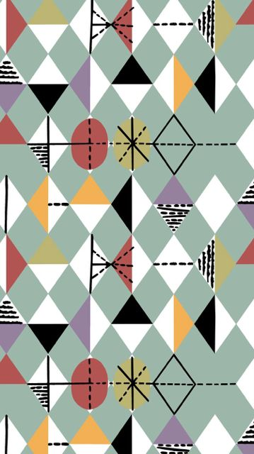 Diamonds:  re-issued fabrics David Whitehead & Sons.