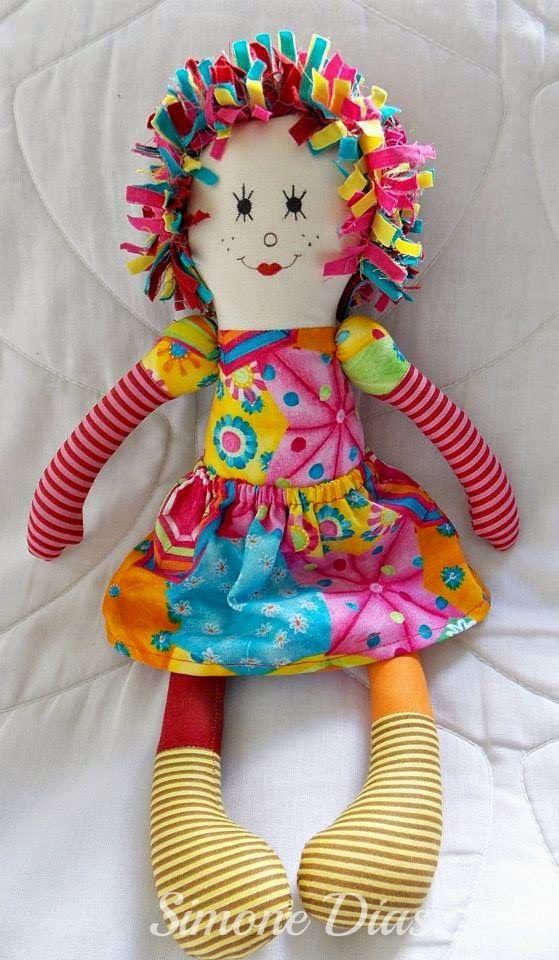 Bonequeiras sem Fronteiras | Bonecas de pano, amor de verdade.: Tutorial - Boneca Emília, por Simone Dias
