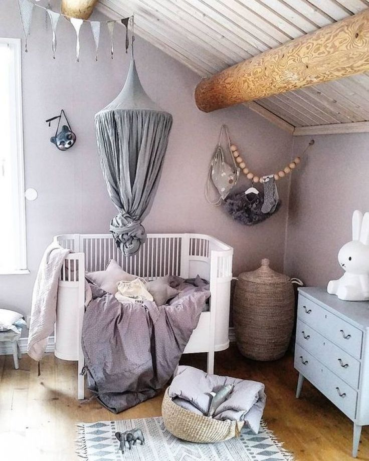 Lilac nursery with girly details