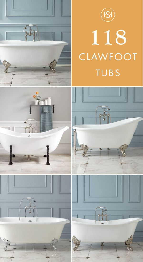Looking to add timeless, classic touches to your upcoming bathroom remodel? Give your space an elegant focal point with inspiration from this collection of 100+ Clawfoot Tubs from Signature Hardware. The relaxing and roomy structure and vintage design is sure to be enjoyed for years.